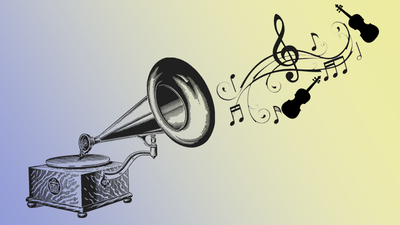 listening phonograph
