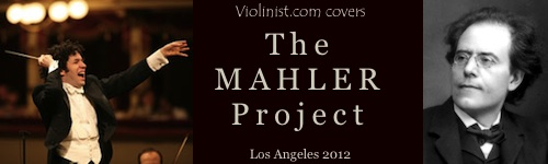 Violinist.com covers the Mahler Project