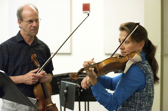 First Violinist Ken Goldstein and Mariana Aguilera