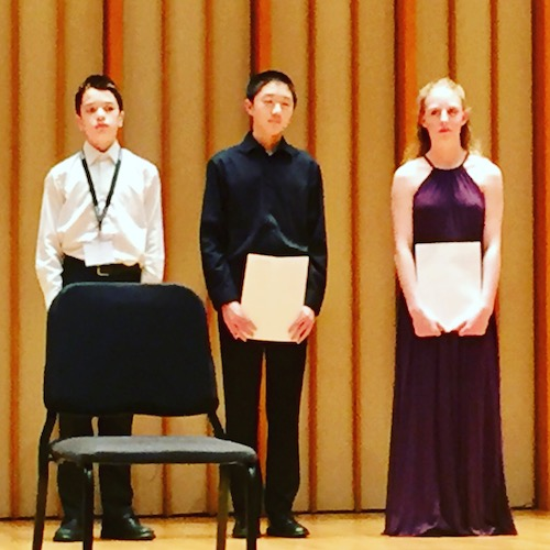 AVS Youth Solo Competition Junior division winners