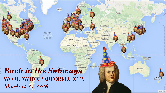 Bach in the Subway worldwide performances 2016