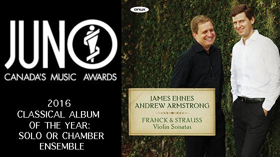 James Ehnes 2016 Juno