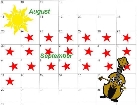 fall practice calendar