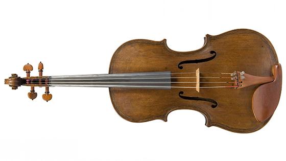 Stolen Fischer violin front