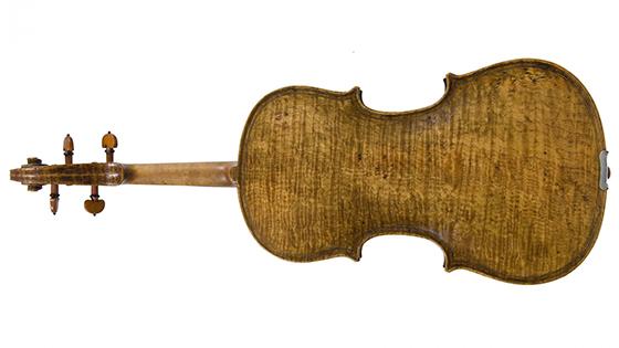 Stolen Fischer violin back