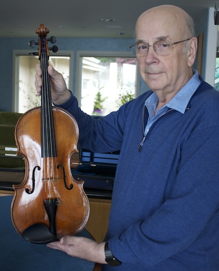 David Fulton with the Guarneri Landau viola