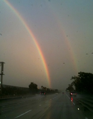 Double rainbow over Mexico