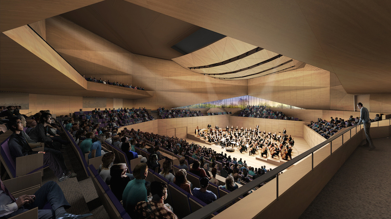 Juilliard Tianjin Concert Hall design