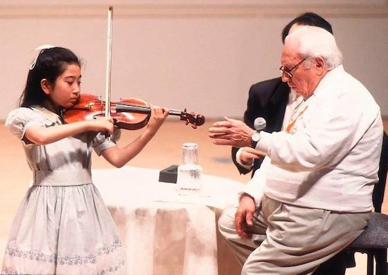 Mayu Kishima and Isaac Stern