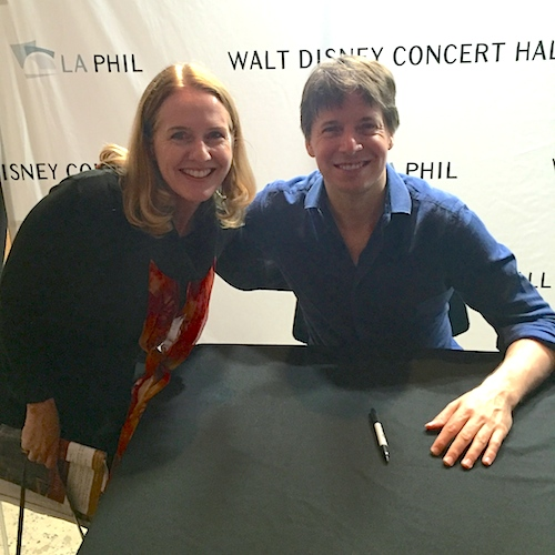 Laurie Niles and Joshua Bell
