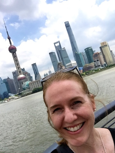 Laurie at the Bund