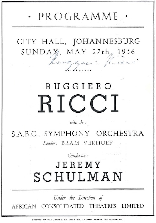 Ricci program South Africa