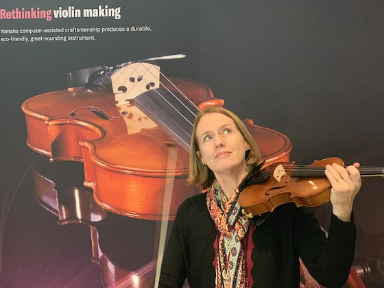 Laurie tests Yamaha student violin