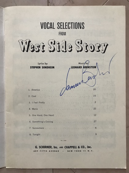 West Side Story autographed program