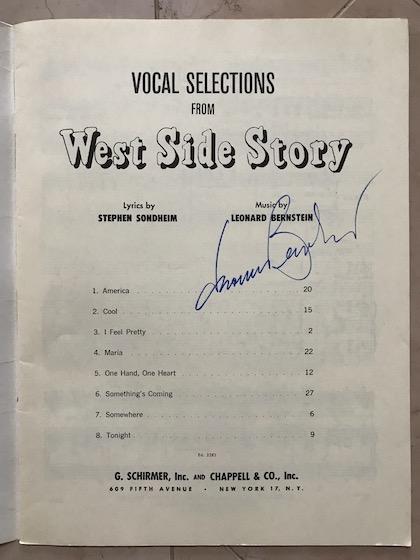 West Side Story autographed program