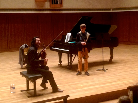 Menuhin Competition 2014: Jurors Give Master Classes and
