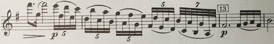 Barber violin concerto passage