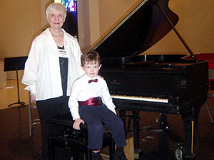 Brian at the Piano with Barbara Shepherd