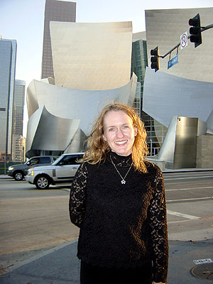 Laurie at Disney Hall