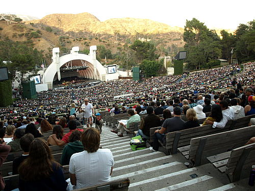 The crowd at the Hollywood Bowl