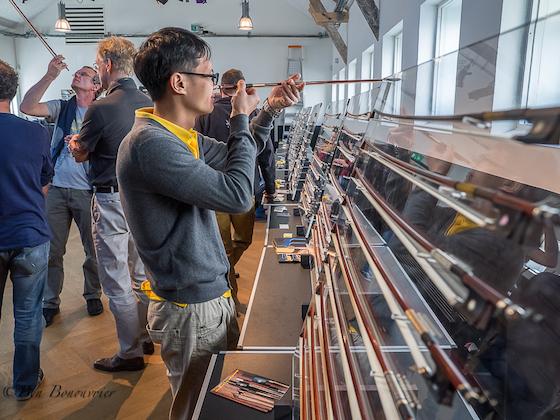 examining bow