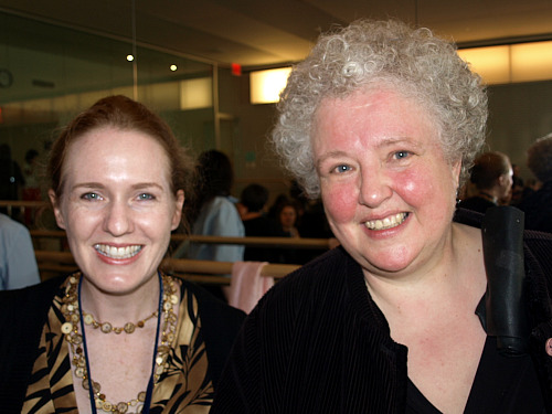 Laurie Niles and Monica Huggett