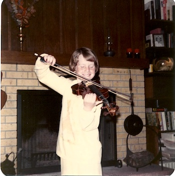 Laurie and her violin