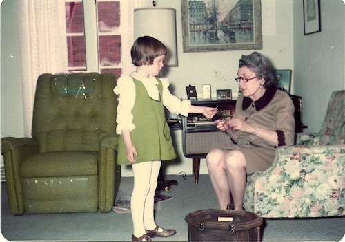 Laurie with her grandmother