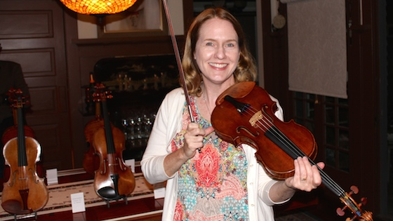 Laurie with Strad