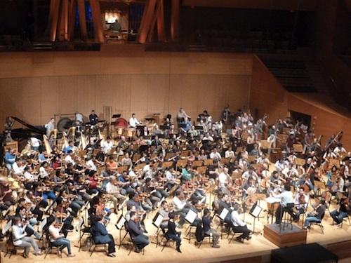 Mahler rehearsal