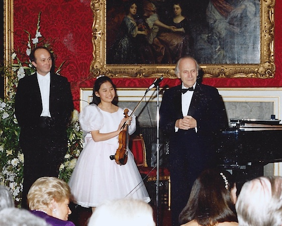 Gordon Back, Sarah Chang, and Yehudi Menuhin