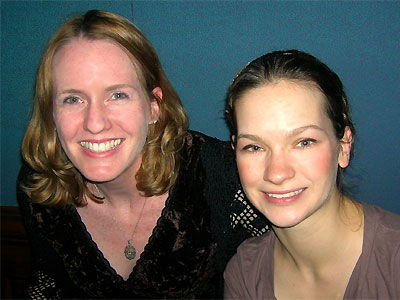 Laurie Niles and Hilary Hahn