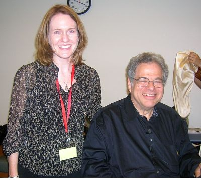 Laurie with Itzhak Perlman