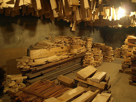 Wood, in storage