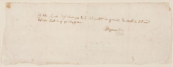 rare Mozart letter
