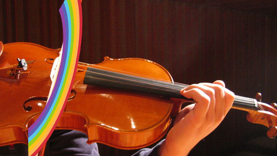 reverse rainbow bow