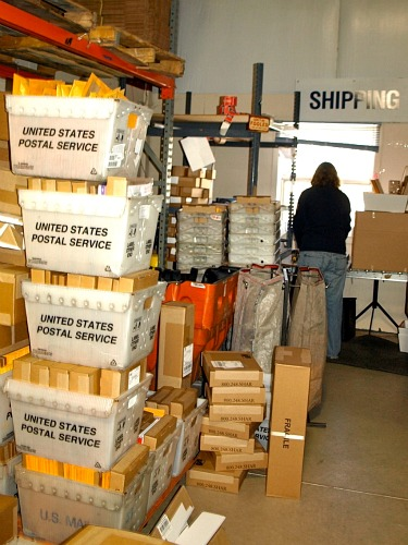 Shar's shipping department