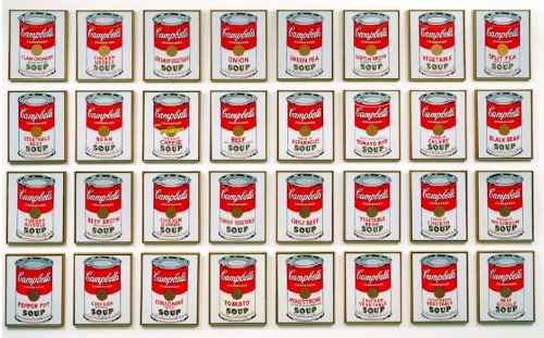 Warhol's soup cans